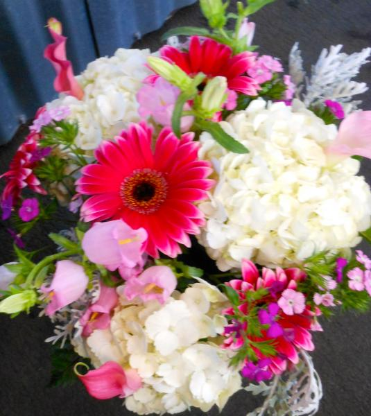 [Image: Bridle flowers, Wedding flowers,Table arrangement]