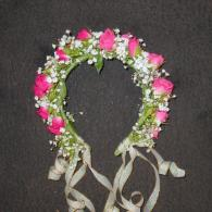 Hot pink spray roses head band