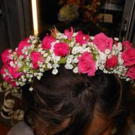 Baby Breath and spray rose head band