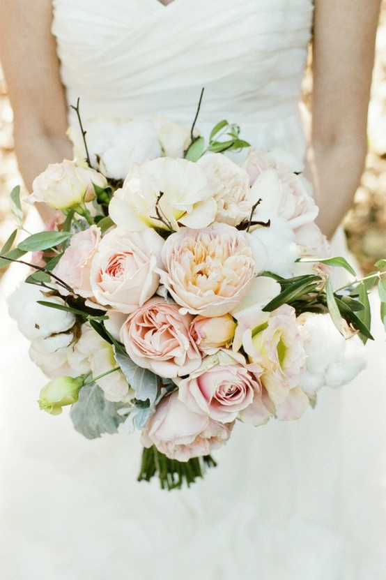 Pink Roses, White pearls - Bridal Bouquet Gallery