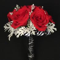 Red & Black Prom Bouquet
