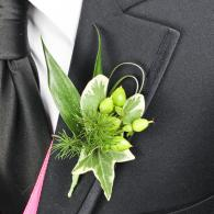 All Green Prom Boutonniere